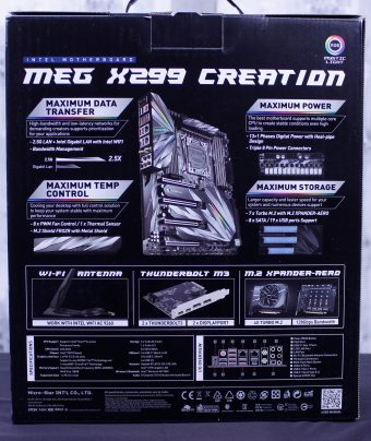 MSI X299 Creation - HEDT, With an Extra Helping of Excess