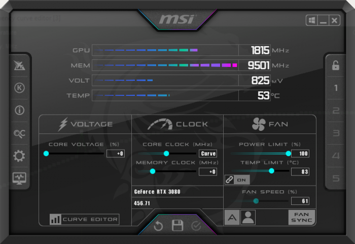 Undervolting the RTX 3080 and the RTX3090 12