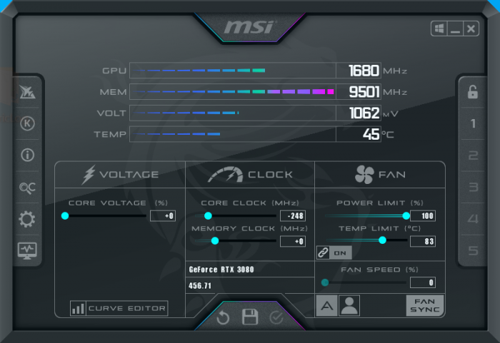 Undervolting the RTX 3080 and the RTX3090 14